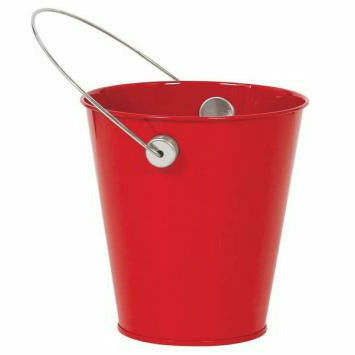 METAL PAIL RED