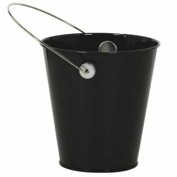 METAL PAIL BLACK