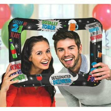 21ST BIRTHDAY INFLATABLE FRAME