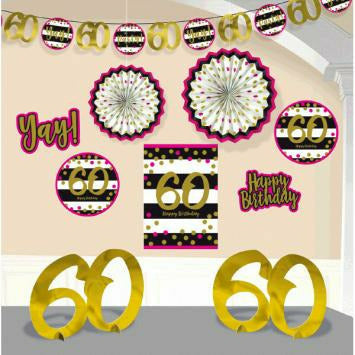 Pink & Gold 60th deco Kit