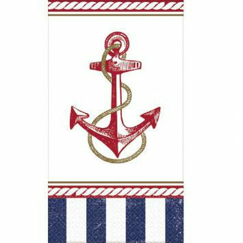 J7 ANCHORS AWEIGH GUEST NAPKINS