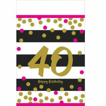 PINK & GOLD 40 TBLCOVER