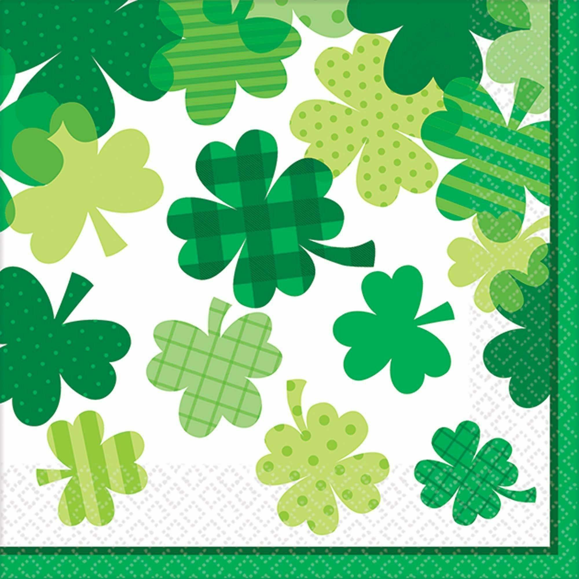 Blooming Shamrocks Beverage Napkins