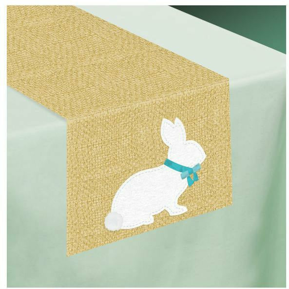 Rustic Easter Bunny Table Runner