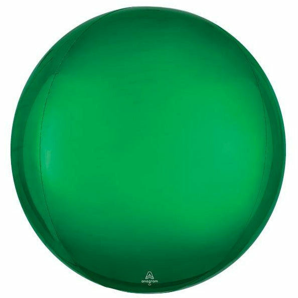 "088 16"" SOLID GREEN ORBZ BALLOON"