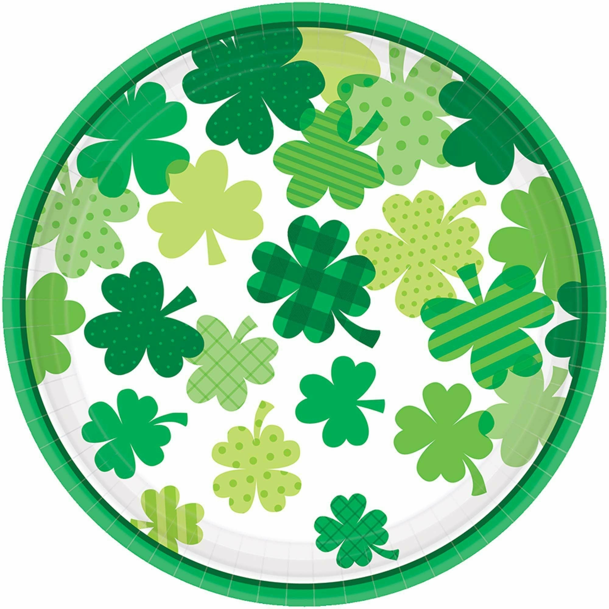 Blooming Shamrocks Round Plate 7""