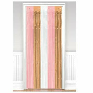PINK AND ROSE GOLD DOOR CURTAIN
