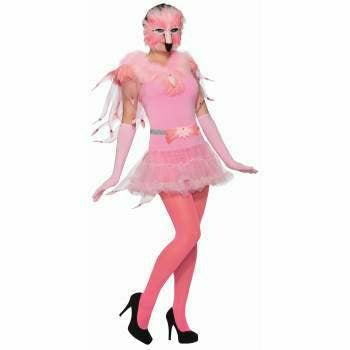 Pink Flamingo Feather Mask