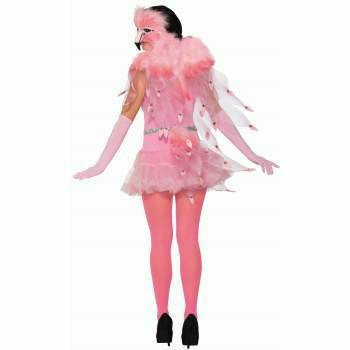 Pink Flamingo Feathered Wings