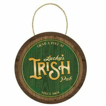 Lucky's Irish Pub Wood Sign