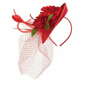 Derby Rose Fascinator Headband