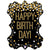 "Happy Birthday Glitter Holograph Jumbo 34"" Mylar Balloon"
