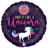 "277 Party Like A Unicorn Glitter Holographic 18"" Mylar Balloon"