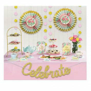 Tea Party Buffet Table Decorating Kit
