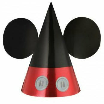 Mickey Mouse Paper Cone Hats 8ct