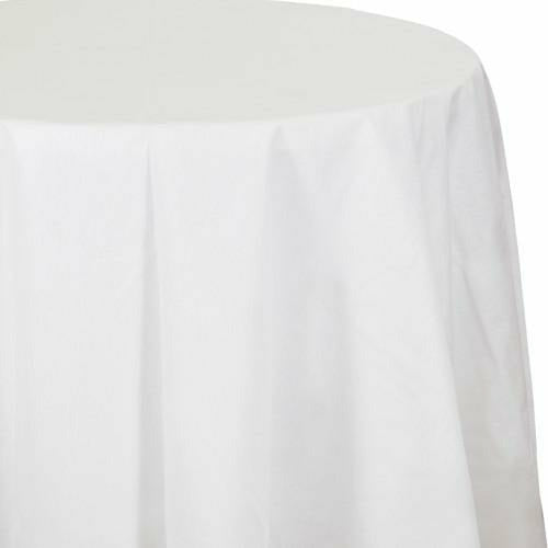 Better than Linen White Octy-Round Tablecover