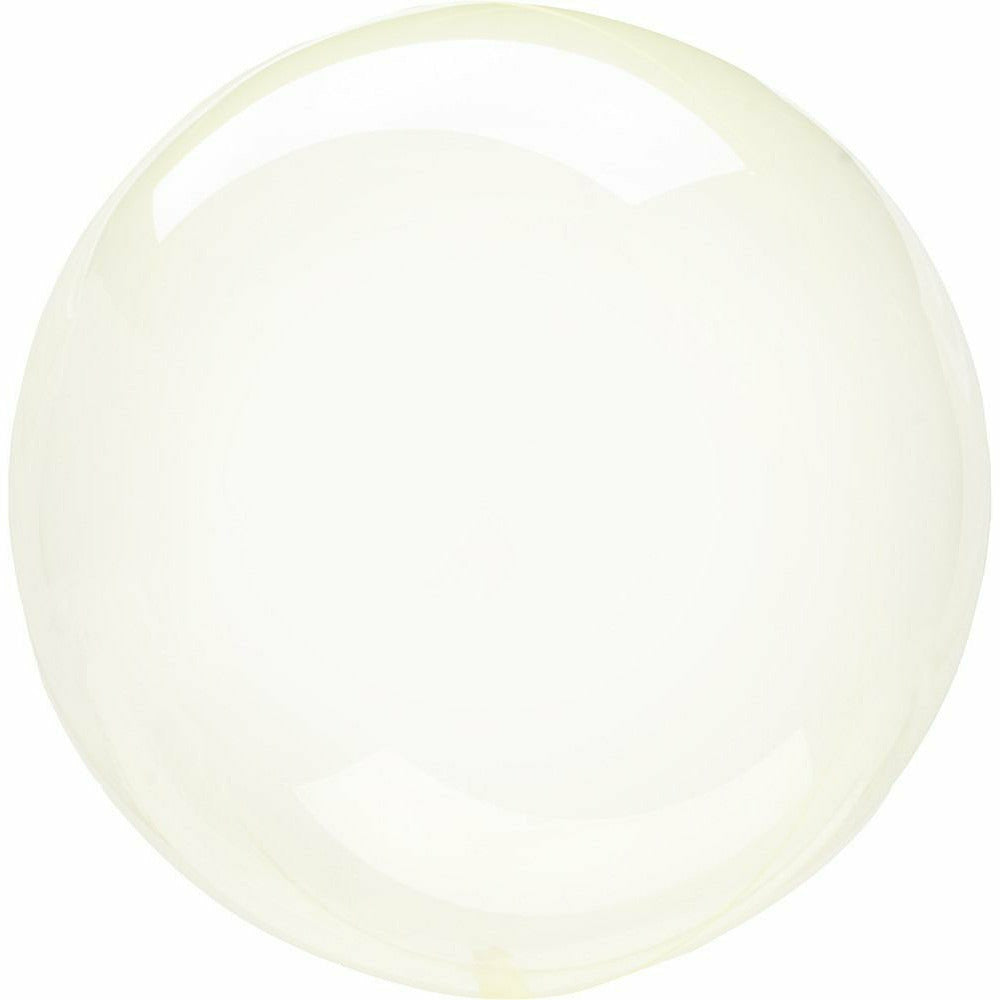 "955 Crystal Clearz Petite Yellow 10"" Balloon"