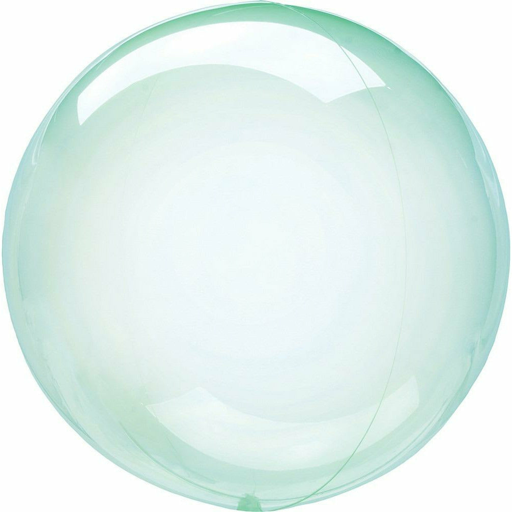 "953 Crystal Clear Petite Green 10"" Balloon"