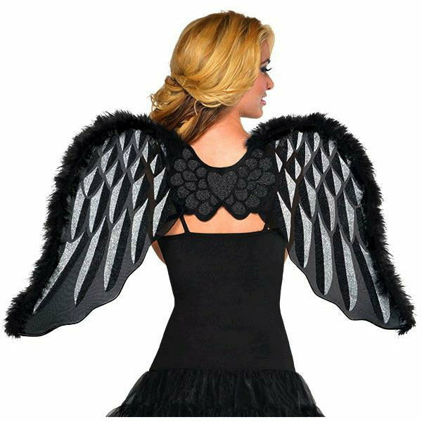 Black Marabou Wings