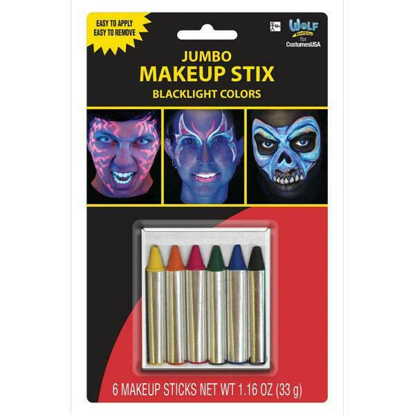 Jumbo Makeup Stix Blacklight Colors