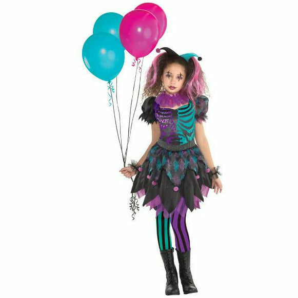 Girls Haunted Harlequin Costume - Q7