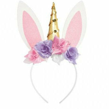 Unicorn Bunny Ear Headband
