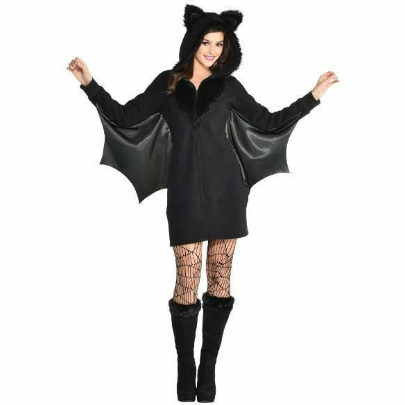 Womens Bat Dress Zipster Costume