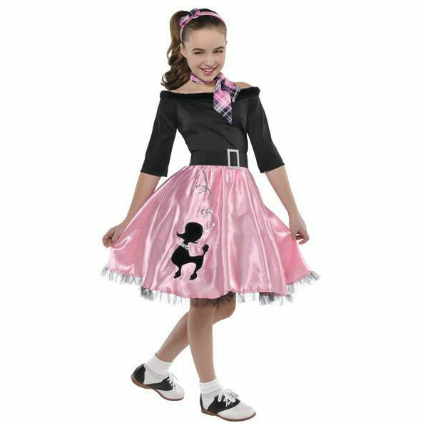 Girls Miss Sock Hop Costume