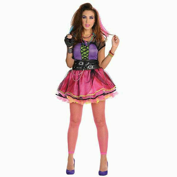 Womens Totally 80's Pop Star Dress