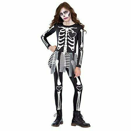 Girls Punky Skeleton Costume