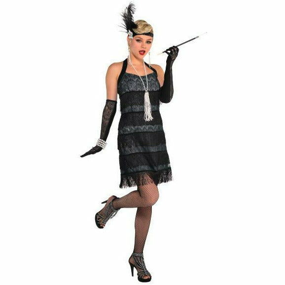 Womens Lace Flapper Costume