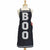 Boo Apron Black with Glitter Letters