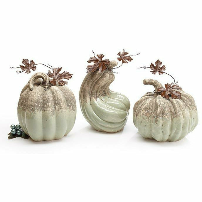 SAGE GREEN/GRAY VARIEGATED PUMPKINS