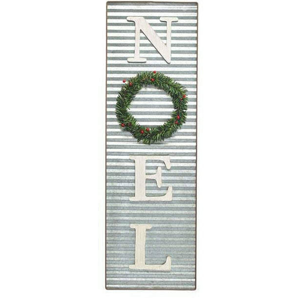 NOEL PORCH SIGN WITH WREATH