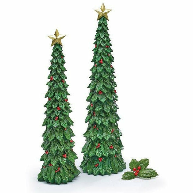 TALL HOLLY CHRISTMAS TREE Small
