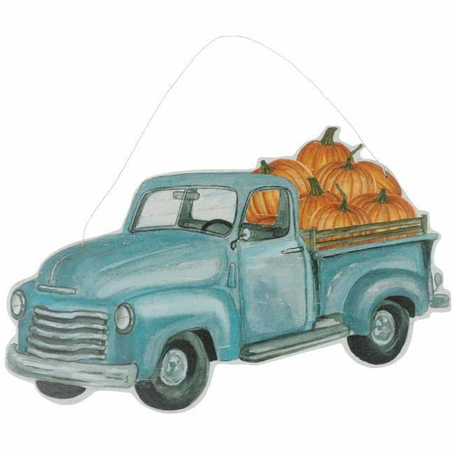 OLD TIMEY BLUE TRUCK WALL HANGING SIGN