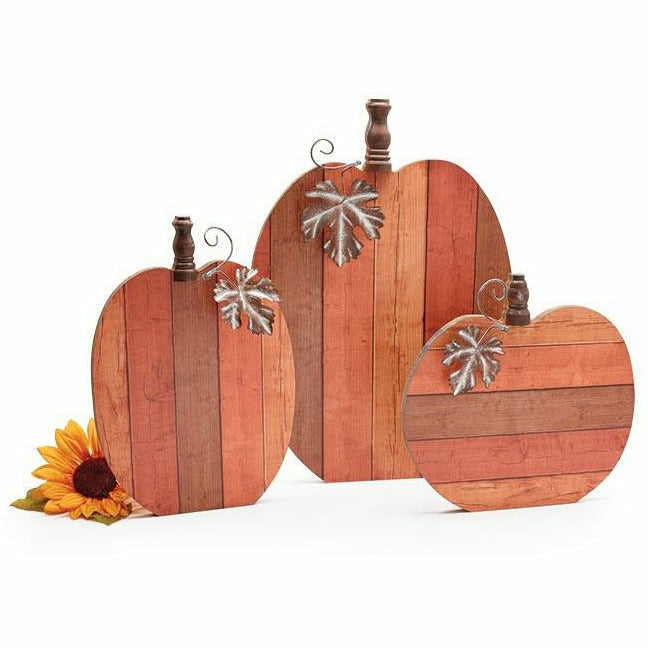 RUSTIC SLAT WOOD PUMPKIN