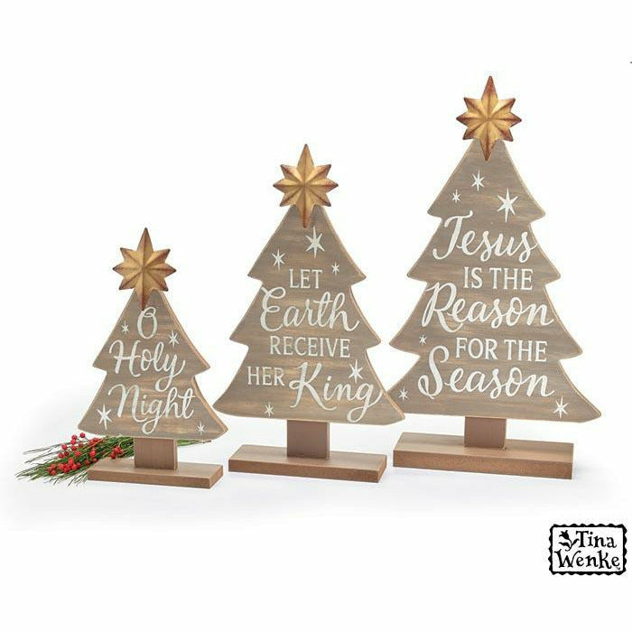 TINA WENKE NATURAL WOOD CHRISTMAS TREES
