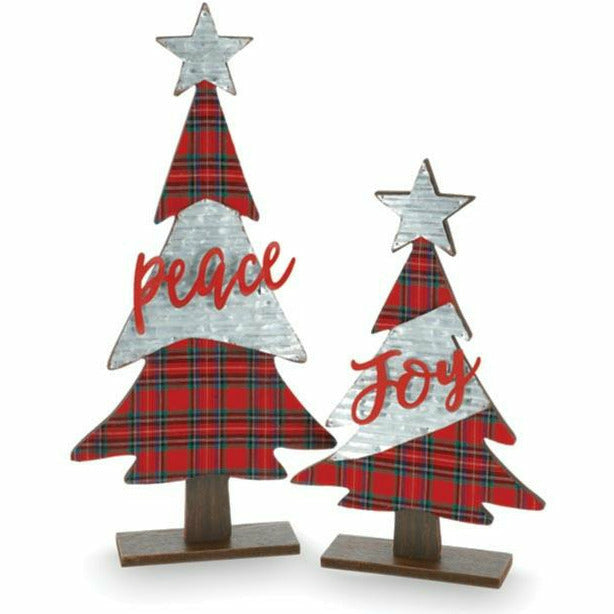TARTAN PLAID MESSAGE CHRISTMAS TREE