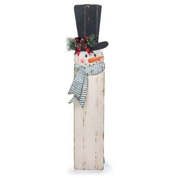 TIN SNOWMAN DECOR