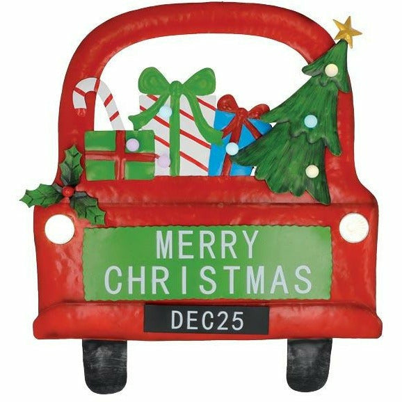 MERRY CHRISTMAS TRUCK WALL HANGING