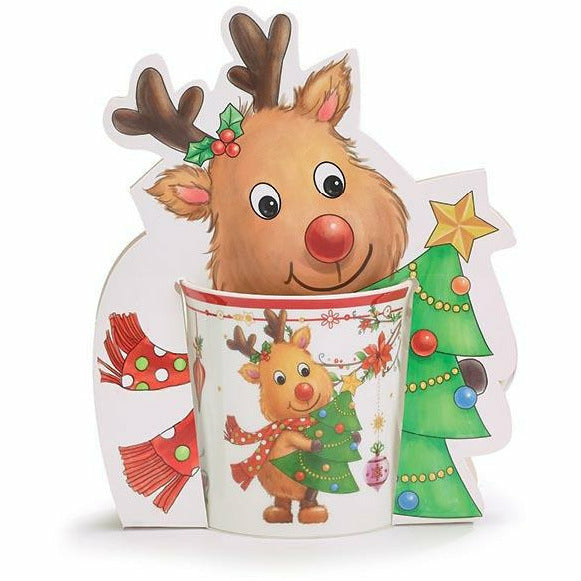 CHRISTMAS REINDEER MUG WITH GIFT CADDY