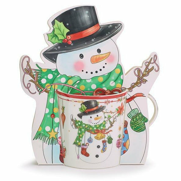 CHRISTMAS SNOWMAN MUG IN GIFT CADDY
