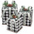 BLACK/WHITE CHECK GIFT BOX DECOR