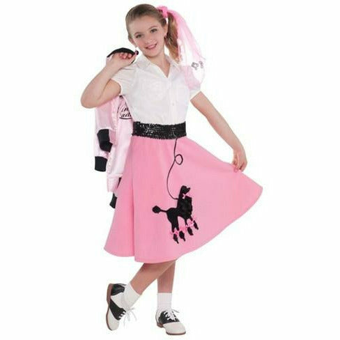 Girls Fabulous 50's Poodle Skirt