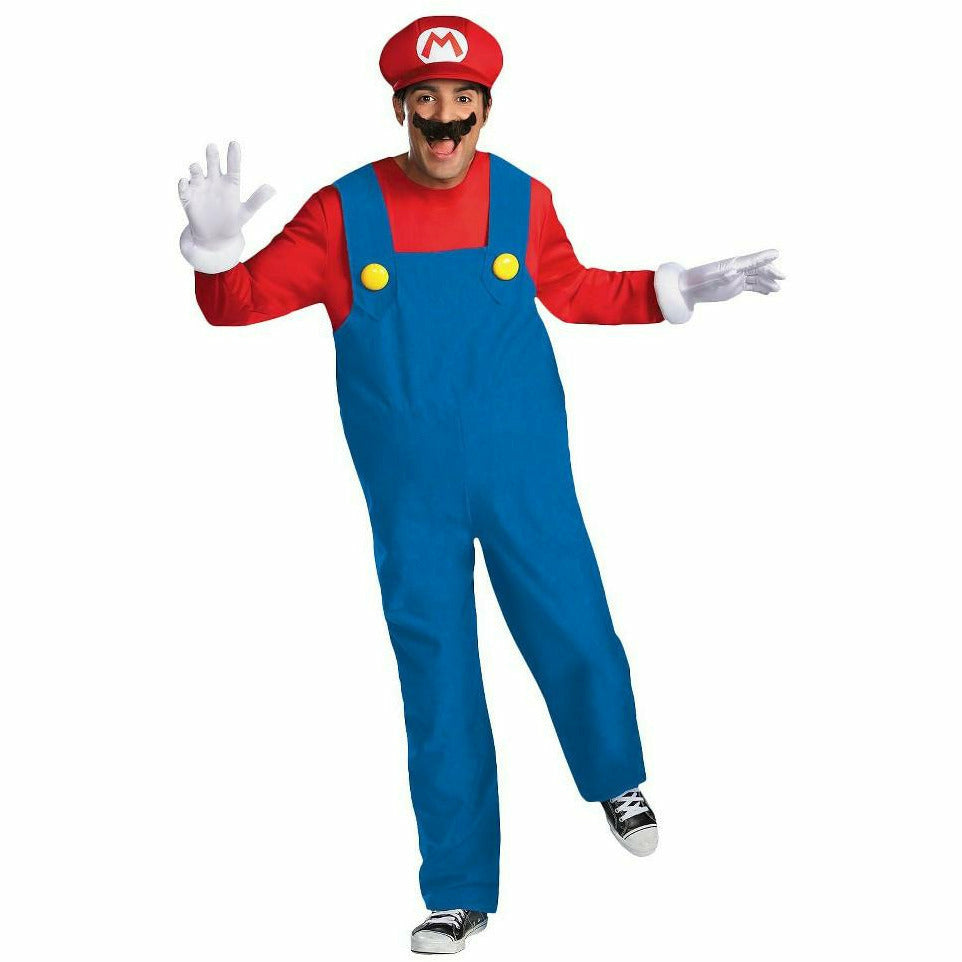 Mens Adult Mario Costume
