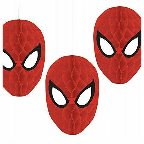 Spider-Man Honeycomb Decorations 3ct