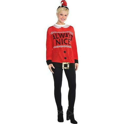 Adult Always Nice Ugly Christmas Sweater