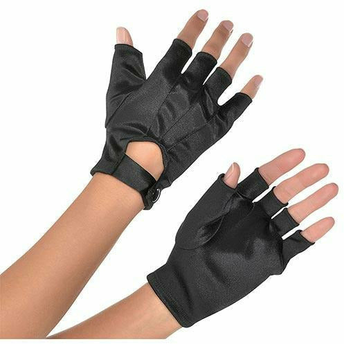 Adult Black Fingerless Gloves