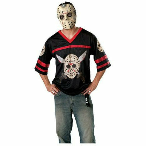 Mens Jason Hockey Jersey and Mask Costume